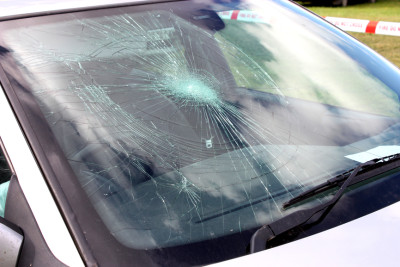 Broken Car Windscreen.